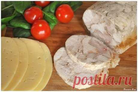 Как приготовить замена колбасе - куриный рулет - рецепт, ингридиенты и фотографии