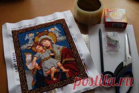 Как натянуть готовую вышивку? - Полезные статьи - Каталог статей - Бесплатные схемы для вышивки крестом