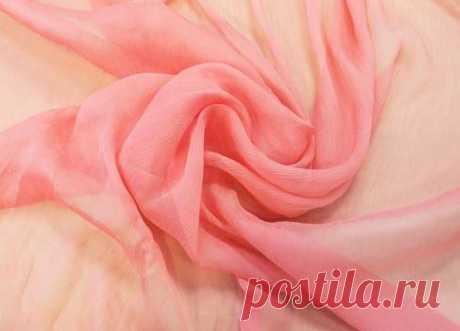 Крэш-шифон розовый (100% шелк) - купить ткань онлайн через интернет-магазин ВСЕ ТКАНИ