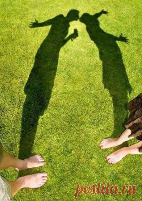 Поцелуй теней: любовная фотосессия