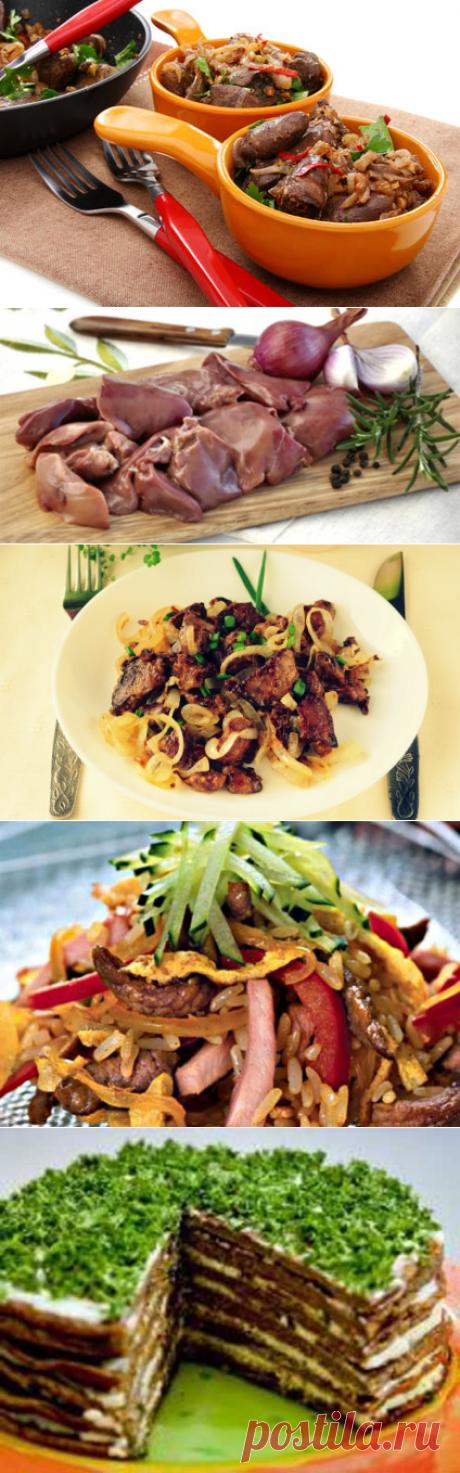 10 Рецептов блюд с куриной печенью