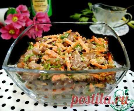 Фасолевый салат с морковью - кулинарный рецепт