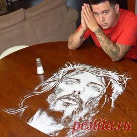 Необычная техника рисования с солью