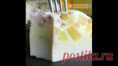 Нежный десертик с ананасом, когда хочется сладенького