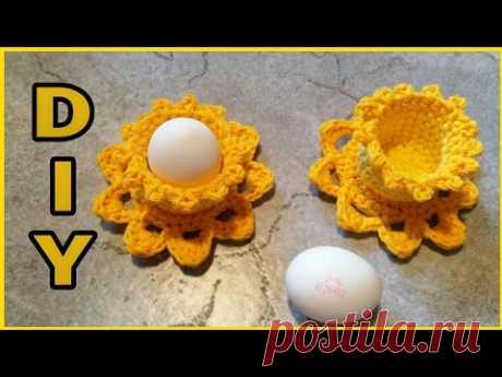 Eierbecher  'Osterglocken' häkeln • DIY    *Julebuergerfee