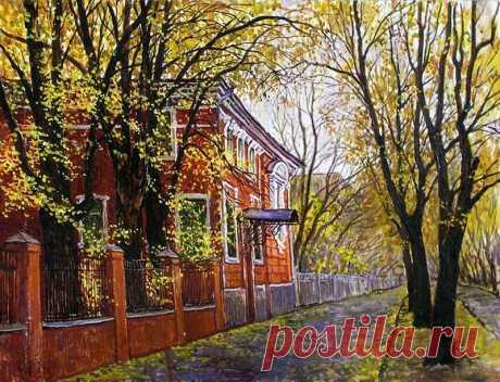 В. Качанов. Осенний переулок.