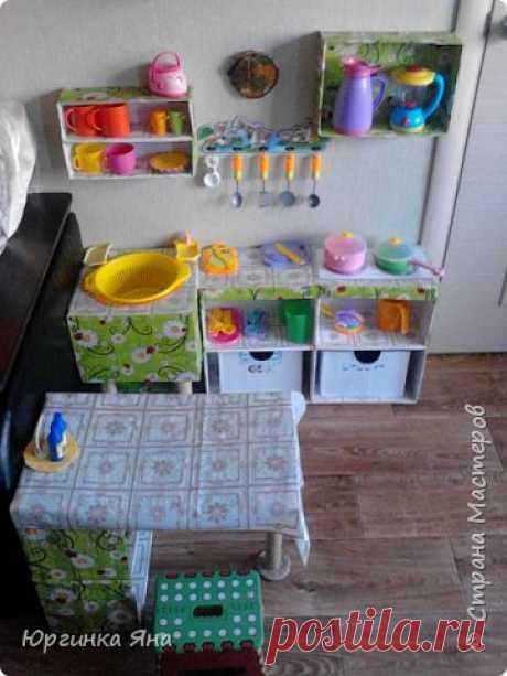 Детская кухня из коробок и картона — Поделки с детьми