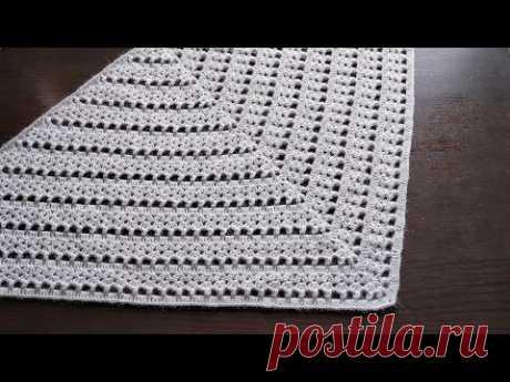 Бактус/Шаль/Платок крючком. Мастер-Класс + Схема. Crochet Baktus/Shawl/Scarf. Tutorial + Chart.