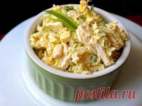 Бюджетный белковый салат для похудения | SimpleSlim