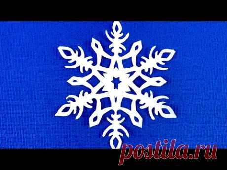 КАК НАСТОЯЩАЯ СНЕЖИНКА Из бумаги! Новогодняя Ажурная снежинка! Узоры для снежинок.