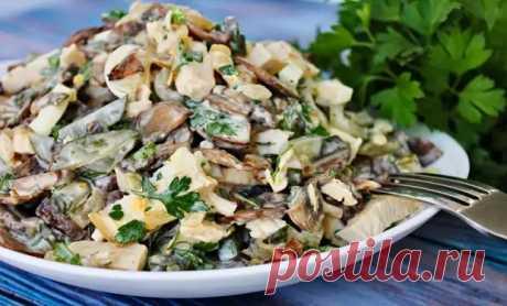 Сытный салат с грибами и мясом «Осенний вальс»: идеальное сочетание продуктов (ВИДЕО) - Odnaminyta - медиаплатформа МирТесен