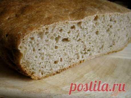 Бездрожжевой пшеничный хлеб с нуля