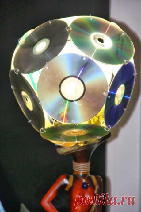 Поделки из дисков своими руками: 130 фото и мастер-класс изготовления игрушек и украшений