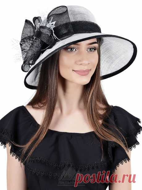 Шляпа Нана - Женские шапки - Из соломки купить по цене 3126 р. с доставкой в Интернет магазине Пильников