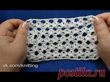 Симпатичный узор крючком для летней туники. Crochet pattern for summer tunic