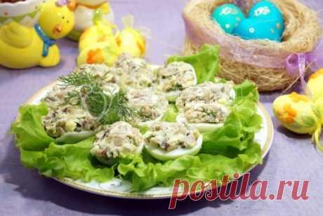 Яйца фаршированные грибами – Пошаговый рецепт с фото. Пасхальные рецепты. Вкусные рецепты с фото