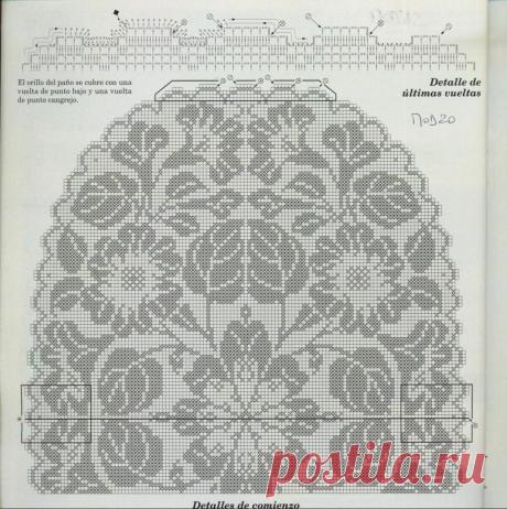 10 чудесных салфеток со схемами филейной вязкой, из журналов. | pro100stil | Яндекс Дзен