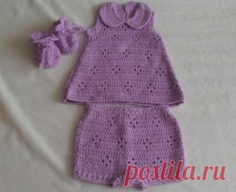 Летний комплект для новорожденного - crafty-box.com