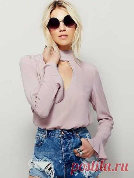 Женственные блузки в образах. — Модно / Nemodno