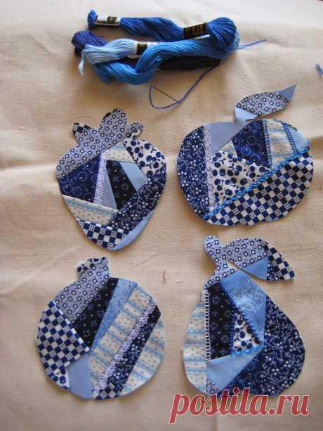 МоZаика рукоделия: Крэйзи пэчворк в стиле гжель
