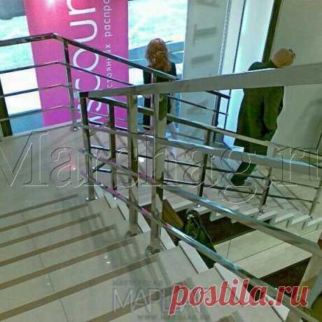 Лестницы, ограждения, перила из стекла, дерева, металла Маршаг – Нержавеющие лестничные ограждения