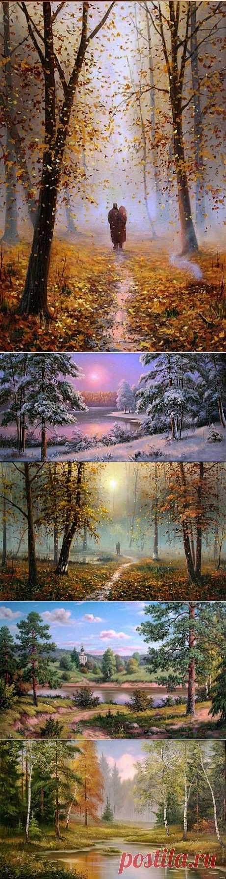(+1) тема - Современные художники. Пейзажи. Slobodan Trpevski   Искусство