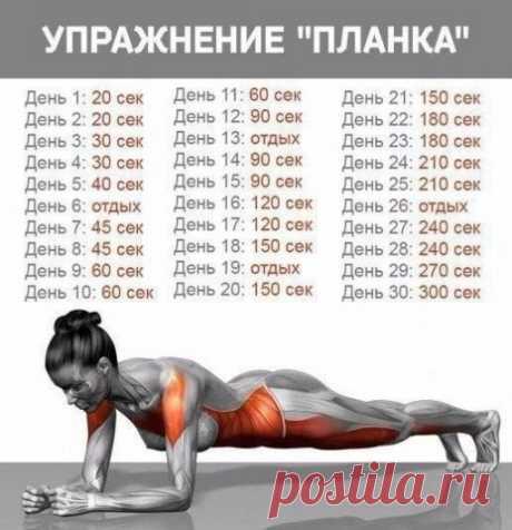 """Упражнение """"планка"""" — Полезные советы"""