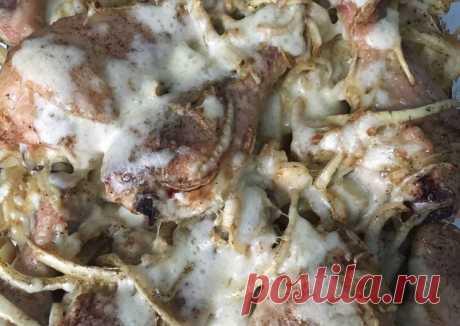Запечённая картошка с куриными голенями - пошаговый рецепт с фото. Автор рецепта Олечка Бугрова . - Cookpad