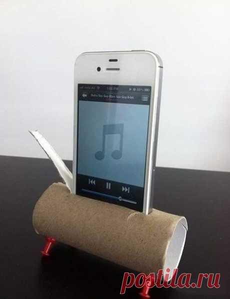 Сделай сам: Подставка под смартфон+усилитель звука из подручных средств - полезные советы