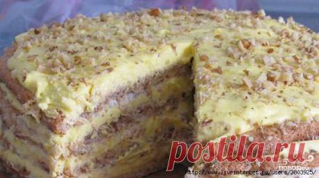 """Торт """"Египетский"""" - нежнейшее лакомство с хрустящей прослойкой"""