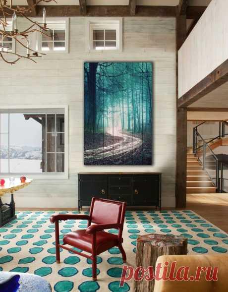 """Картина """"Зеленый лес"""" по цене от 5900 руб. Размеры: 60x90 см, 80x120 см, 100x150 см, 120x180 см. Срок изготовления: 2-3 дня."""