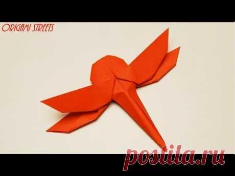 Оригами стрекоза из бумаги Как сделать
