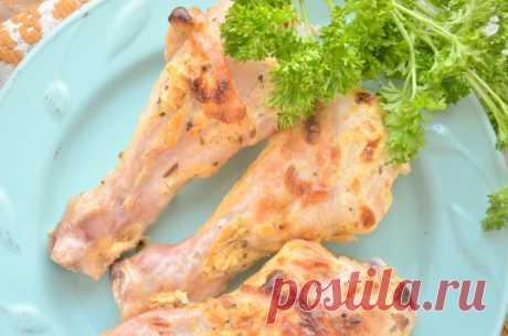 Куриные голени в майонезно-горчичном соусе: рецепт с фото