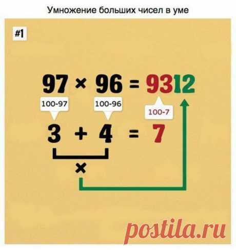 9 уловок, чтобы в два счета овладеть математикой — Все самое интересное!