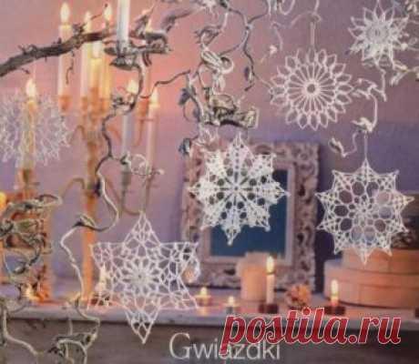 Вязаные снежинки крючком - схемы   HANDMADE-МУЗЕЙ • Ручная работа, мастер-классы, идеи