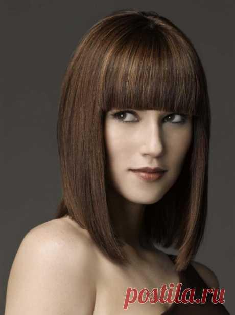 Градуированный боб каре на средние волосы. Градуированное каре на средние волосы