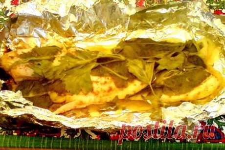 (+1) - Рыба в фольге, запеченная на углях | Любимые рецепты