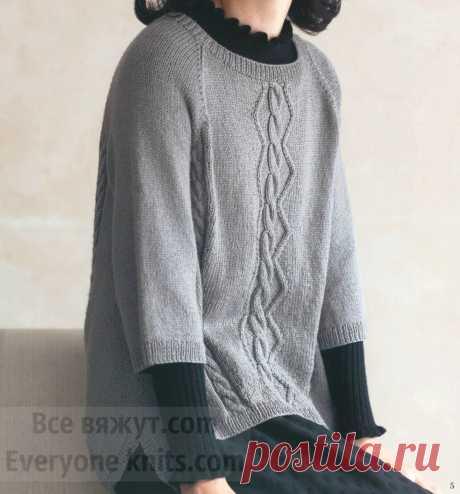 Страна восходящего солнца. Handmade от дизайнеров. 15 моделей спицами.   Все вяжут.сом/Everyone knits.com   Яндекс Дзен