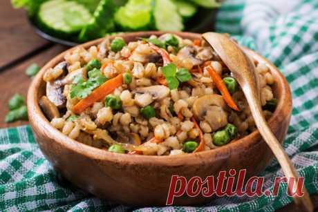 Восхитительная перловая каша с мясом, грибами и овощами - Счастливый формат