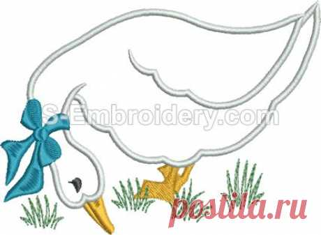 Applique embroidery - 10461 Geese machine embroidery applique set