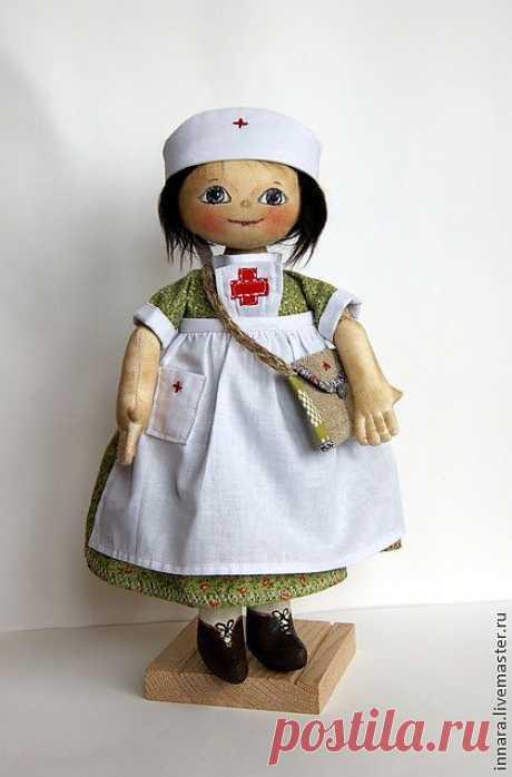 Тряпичная кукла Сашенька - зелёный,тряпичная кукла,натуральные материалы