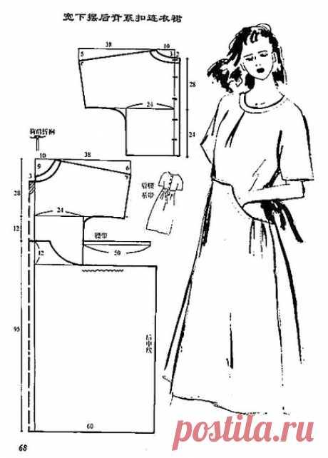 Платье в стиле бохо. #простыевыкройки #простыевещи #шитье #платье #свободныйкрой #бохо #выкройка