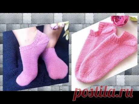 Нестандартный метод вязания коротких носков. Современная модель. Подробный мк./Knitting mk. Socks.