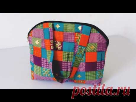 New design Handbag  cutting and stitching at home // shopping bag / clothes bag / grocery bag making