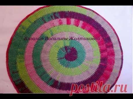 Тунисское вязание спираль