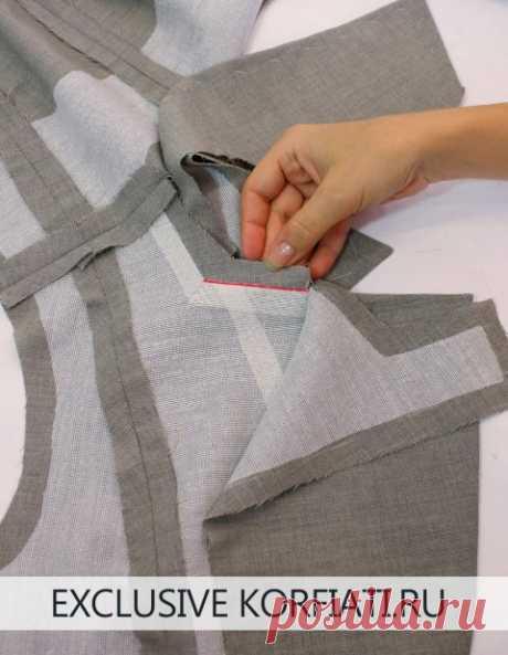 Processing of a jacket collar - MK from A. Korfiatya
