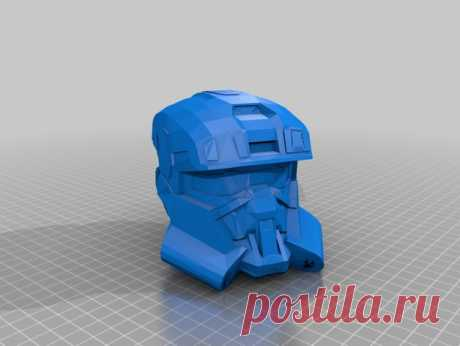 """Halo Reach EDO helmet by Jace1969 An old file from my Pepakura making days that I discovered in Pepakura Designer you can export to .OBJ and in """"Windows 10 3DBuilder or 123Design"""" export to .STL. Unfortunately I don't have the skills yet to improve further on the model, but maybe someone out there would like to tidy it up. Please upload it back as a remix if you do take the time to clean it up. Please note this was originally uploaded to the net as a free down load. So I c..."""