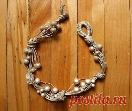 Красивое ожерелье своими руками - подробный МК в фото