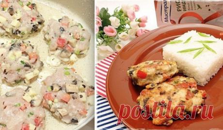 Сочные куриные котлеты с рисом «Индика» за 20 минут