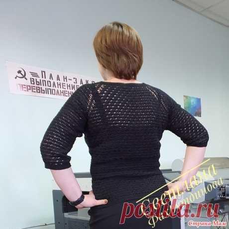 ИЗЮмительная черная кофточка - Вязание - Страна Мам